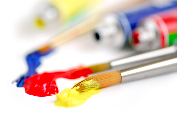 Paints used for Art Night with Ran Stewart artist